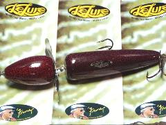 Lelure Red Crackle Globe Muskie Bait
